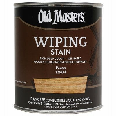Wiping Stain, Oil-Based, Pecan, 1-Qt.
