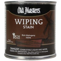 Wiping Stain, Oil-Based, Rich Mahogany, 1/2-Pt.