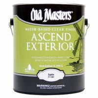 Ascend Exterior, Water-Based, Satin, Clear, 1-Gallon