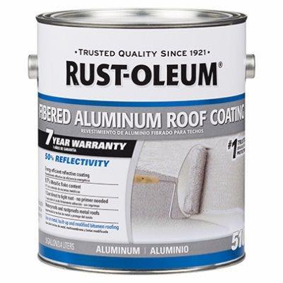 Fibered Roof Coating, Aluminum, 1-Gallon