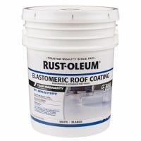 Elastomeric Roof Coating, White, 5-Gallons