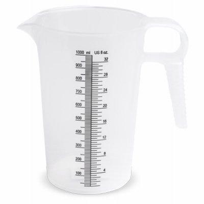 Accu Pour Measuring Pitcher, 32-oz., Food Grade Polypropylene, Measures in oz. & Metric