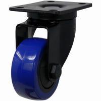 Blue Diamond TPU Wheel Caster, 3-In. D, Double Ball Bearing Swivel, 225-Lb. Load Capacity, 1-Pk