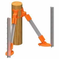 Wood Corner Brace Kit, Wood Post Needed