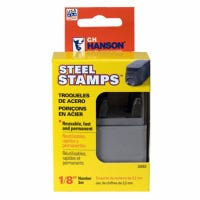 Number Stamp Set, Steel, 1/8-In., 9-Pc.
