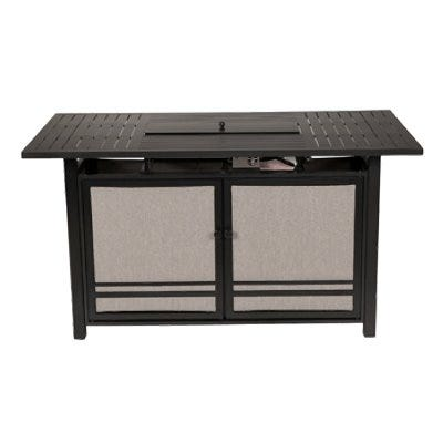 Manhattan LP Gas Fire Pit Table, Charcoal Gray Aluminum, 66 x 36-In.