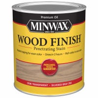 Wood Finish, Interior Stain, Silvered Gray, 1-Qt.