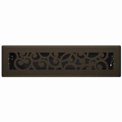 Signature Series Floor Register, Bronze Age Wonderland, Steel, 2-1/4 x 12-In.