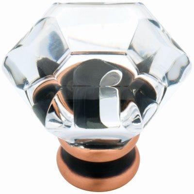 Acrylic Cabinet Knob, Bronze & Copper, 1-1/4-In. Round