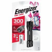 Metal LED Flashlight, 2 Light Modes, 300 Lumens, Adjustable Clip