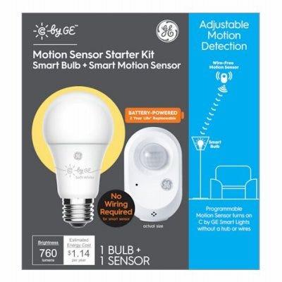 Wireless Smart Motion Sensor & LED Bulb, A19,  Soft White, 9.5-Watts