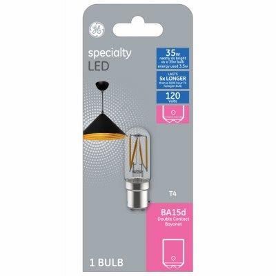 LED Light Bulb, Clear, Filament Design, 3-Watts, 350 Lumens