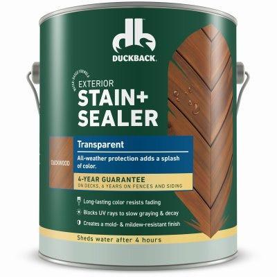 Exterior Stain + Sealer, Transparent, Duckwood, 1-Gallon