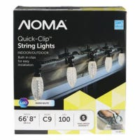 Quick-Clip LED Light Set, C9, Warm White, 100-Ct.