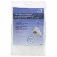 Clothespin Bag, White Cotton, Holds 200 Pins