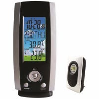 Wireless Weather Station with Clock, 3-Channel, Remote