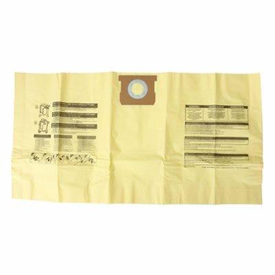 High Efficiency Wet/Dry Vac Dust Filter Bags, 8-10 Gallon, 3-Pk.