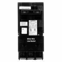 GFCI Circuit Breaker, 2 Pole, 50-Amps