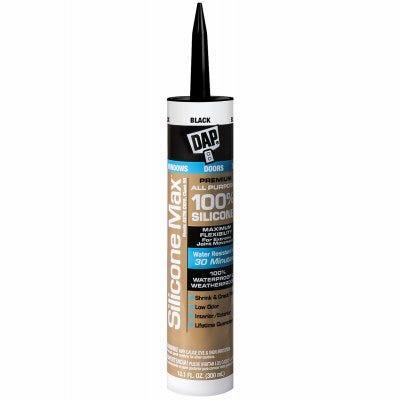 Silicone Max Premium Sealant, 100% Silicone, Black, 10.1-oz.
