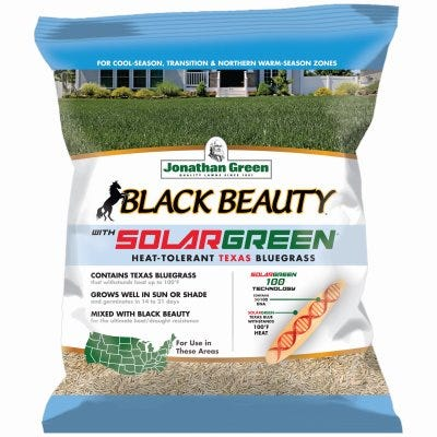 Black Beauty Grass Seed, Sun & Shade, Southern Regions, 3-Lbs.