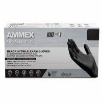 Medical Exam Nitrile Gloves, Latex Free, Black, Medium, 100-Ct.