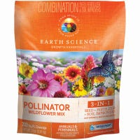 Pollinator Wildflower Mix, Covers 200 Sq. Ft., 2-Lbs.