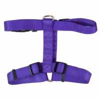 Dog Harness, Purple Nylon, 3/4 x 20-28-In.
