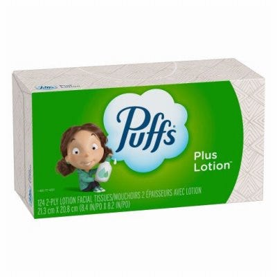 Plus Lotion Facial Tissues, 124-Ct.