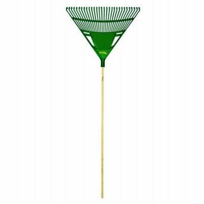 Smart Leaf Rake, 48-In. Wood Handle, 25 Tines, 30-In. Head