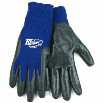 Nylon Nitrile Gripping Gloves, Navy, Men's L