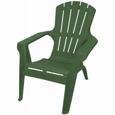 Adirondack II Chair, Contoured Seating & Back, Fade-Resitant Resin, Hunter Green