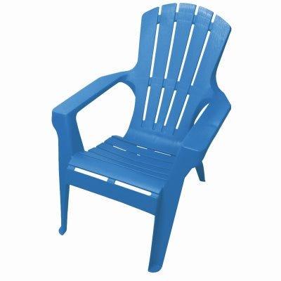 Adirondack II Chair, Contoured Seating & Back, Fade-Resitant Resin, Island Blue