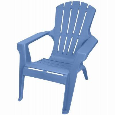 Adirondack II Chair, Contoured Seating & Back, Fade-Resitant Resin, Blue Heaven