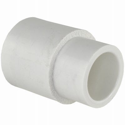Schedule 40 PVC  Pressure Pipe Fitting, Reducing Coupling, White, 1 x 3/4-In.