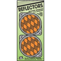 Safety Reflector, Nail-On, Amber Plastic, 3.25-In., 2-Pk.