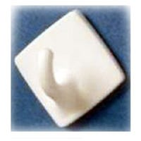 Hooks, White, Square, 1.5 x .5-In., 2-Pk.