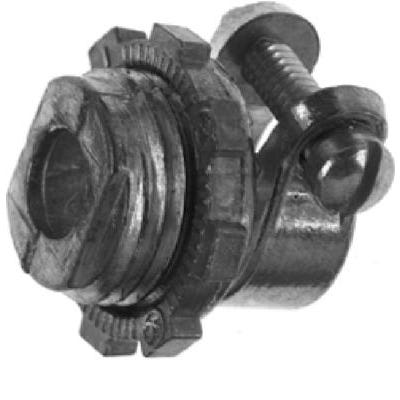 Conduit Fitting, Flexible Squeeze Connector, 1/2-In.