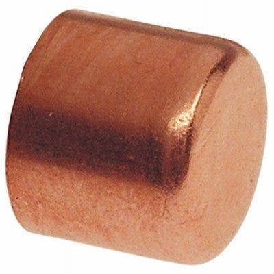 Copper Pipe Cap, 3/4-In. C