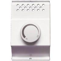 Baseboard Thermostat, Single Pole, White