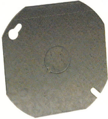 Image of Octagon Cover, Flat, Steel, .5-In. Knockout, 4-In. Blank