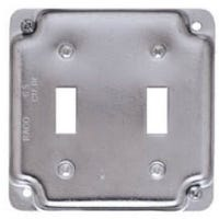 4-Inch Flat Corner Double Toggle Switch Box Cover