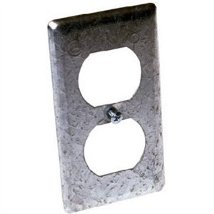 Image of Receptacle Handy Box Cover, Duplex, Steel