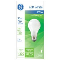 3-Way Soft White Light Bulb, 280/1035/1315 Lumens, 30/70/100-Watts