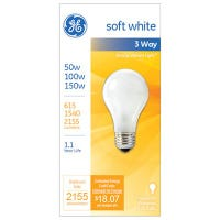 3-Way Soft White Light Bulb, 580/1640/1860 Lumens, 50/100/150-Watts