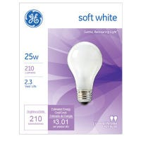 Soft White Light Bulbs, 25-Watts, 2-Pk.