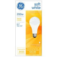 200-Watt Soft White Light Bulb