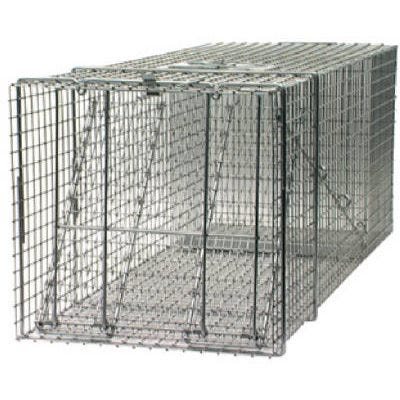 Live Animal Cage Trap, Spring Loaded, 42 x 15 x 15-In.