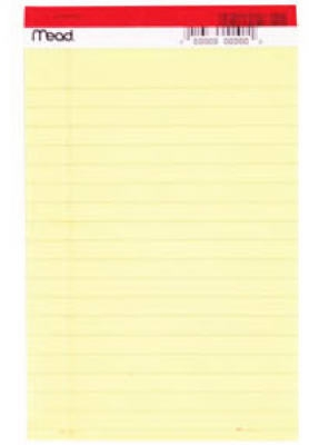 Image of Junior Yellow Legal Pad, 5 x 8-In., 50-Ct.