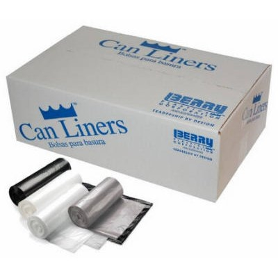 Image of Trash Can Liners, Gray, 60-Gal., 100-Ct.