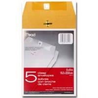 Clasp Envelopes, 6.5 x 9.5-In., 5-Ct.